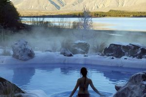 Hot pools Lake Tekapo