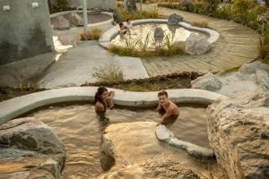 Natural mud and sulphur spa