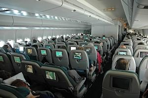 Air New Zealand 747 Economy class