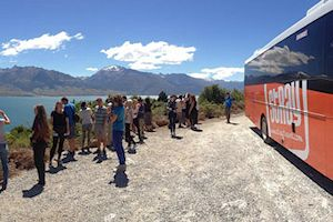 Scenic stop along the South Island