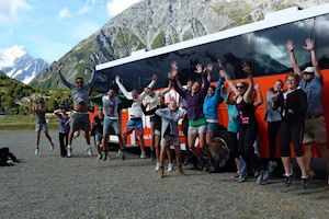 Fun group at Mt cook, South Island