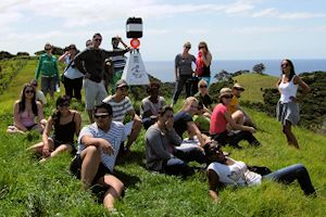 Group hike, Stewart Island