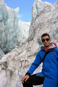 Anthony on top of the glacier