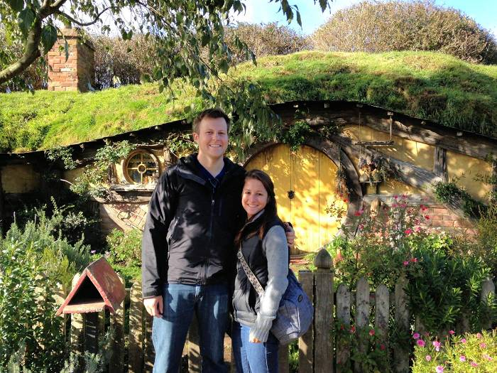 Jason and Sondra in Hobbiton
