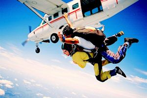 Sky diving Taupo, North Island